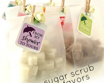 SAMPLE - ONE Baby Shower Favor - Mini Sugar Scrubs - 3.00 - Unique Baby Shower Favors