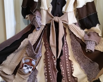 """Custom Fairy Coat Long  """"Sky Pirate"""""""