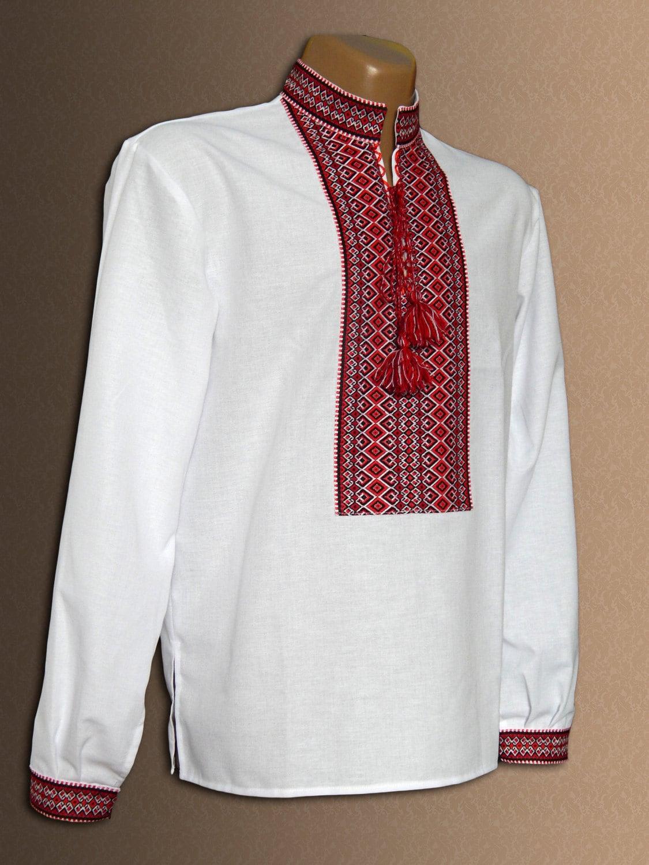 Ukrainian embroidered shirt for adult men and boys vyshyvanka