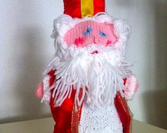 Saint Nicholas hand  puppet, st Nicholas puppet, dutch sinterklaas doll,  dutch sint puppet,  dutch sint doll, dutch santa claus
