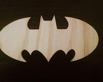 Batman symbol, Batman emblem made of wood