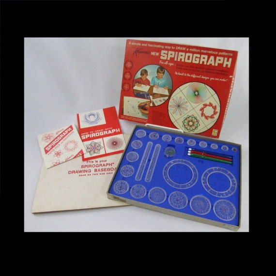 Original 1967 kenner spirograph set no 401 by thedelightfulcrow - Spirograph clock ...