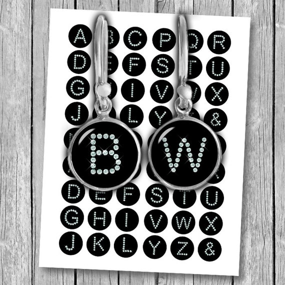 Diamond alphabet letters printable circle images 1 inch 25mm for 1 inch letters