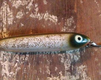 Brownie -Vintage Silver Fishing Lure Key Chain