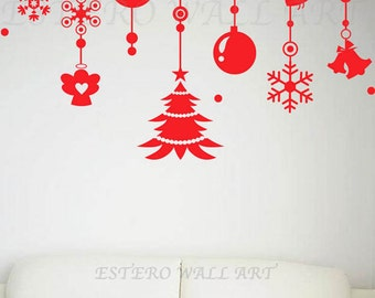 Christmas Ornaments 8(small) Removable wall Stickers, Removable Wall Decals , Nursery wall decal, home decor