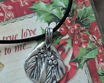 Fine Silver Evergreen Pendant Necklace: A touch of Christmas and winter, all in one