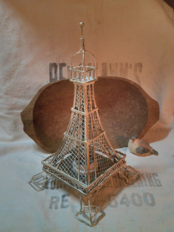 Eiffel Tower Tea Light Holder Metal Wire Candle By Vinlizzy