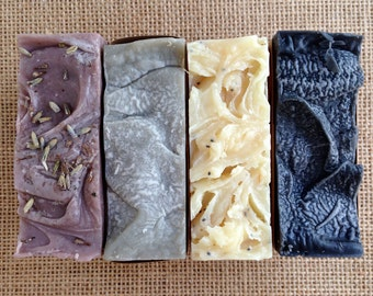Set of 4 Soap Bars, 5oz Each - Vegan, All Natural, You Pick