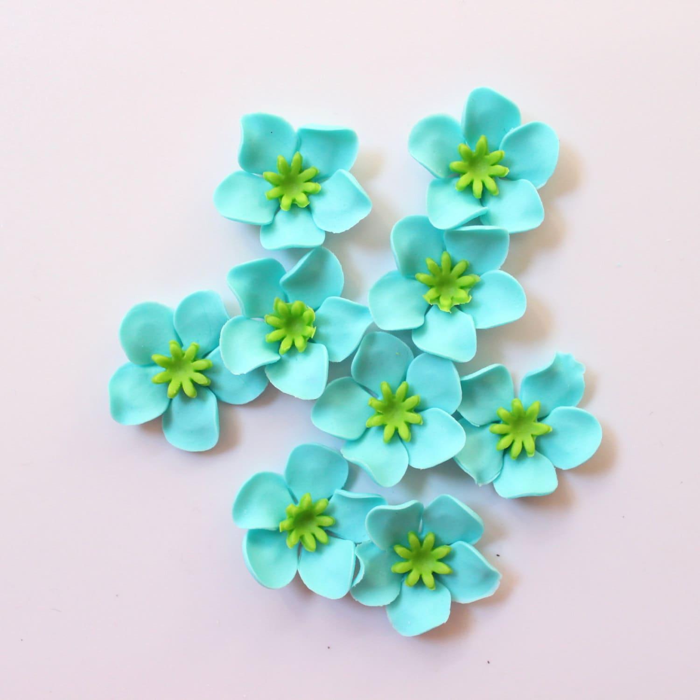 Fondant Flowers For Wedding Cakes: 36 Fondant Flowers Edible Flower Cupcake Toppers Cake Topper