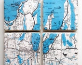 Grand Traverse Bay Region Map Coasters