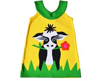Yellow Cow Dress
