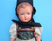 1958 German Souvenir Costume Doll Black Forest Zwilling Fox Trachten Puppen Tagged