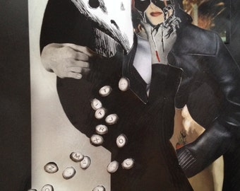 Collage Mixed Media - Surreal, Body Horror - Mummer