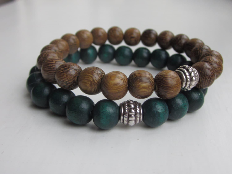 wood bead bracelet mens bracelets simple bracelet wooden. Black Bedroom Furniture Sets. Home Design Ideas