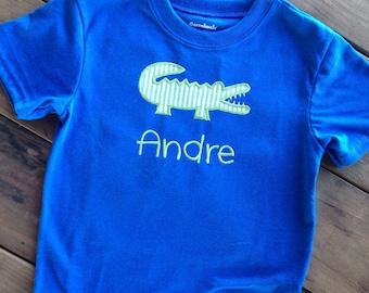 personalized alligator shirt, alligator applique shirt