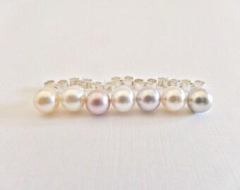 Pearl stud earrings, Swarovski crystal pearl stud earrings, Bridal pearl studs, Prom pearl studs, Wedding jewellery, UK seller