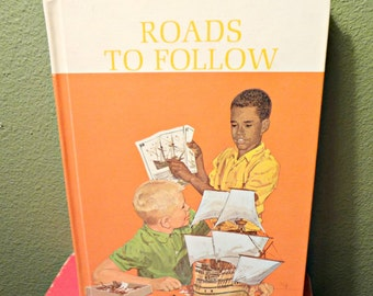 Vintage School book, 1965, Roads to Follow, Elementary, New Basic Readers, Scott Foresman and company, nice condition