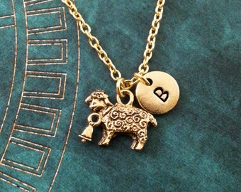 Sheep Necklace SMALL Sheep Jewelry Personalized Jewelry Lamb Necklace Lamb Jewelry Shepherd Necklace Shepherd Gift Lamb Pendant Necklace