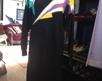 Jazzy Vintage 80's Sweater Dress