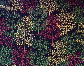 Winter Flannel Fabric, Maywood Studio F8781 On A Winters Night, Holiday Flannel, Christmas Flannel, Tree Flannel, Cotton Quilting Flannel