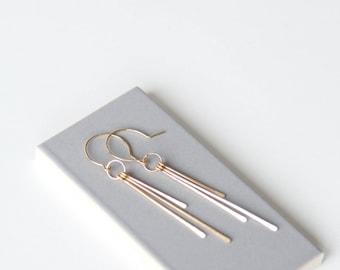 Sunbeam Earrings // 14k gold filled dangling earrings