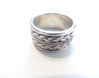 Vintage Braided Silver Ring