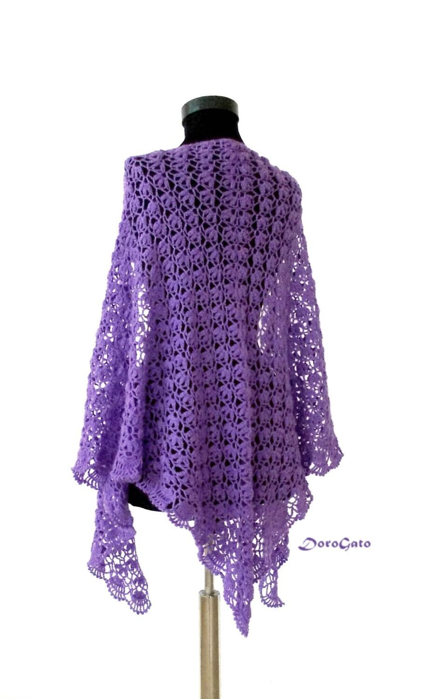 Lace Triangle Shawl Crochet Pattern : Crochet shawl pattern Triangle crochet shawl pattern lace