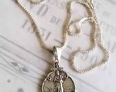 "Necklace - Notre Dame de la Garde - Sterling Silver - 19x25mm - 18"" Sterling Chain"