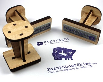 Custom Rubber Stamp Timber - Logo, return address, wedding stamps, the lot!