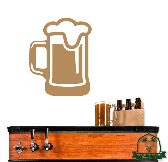 Frothy Beer Mug Wall Decor Decal