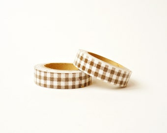 "Fabric Tape ""Brown Squares"""