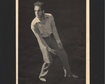 "Photograph from ""The Dance of Life"", 1930s, The Divine Idiot, matted in black  - 000147M"