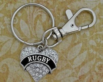 Rugby Keychain Zipper Pull