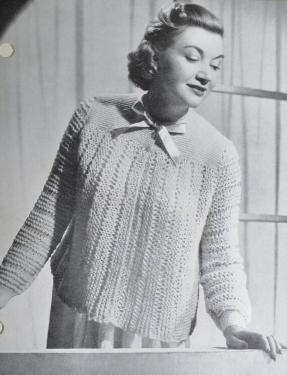 Vintage Bed Jacket Knitting Pattern : PDF vintage knitting pattern bed jacket dressing jacket pdf