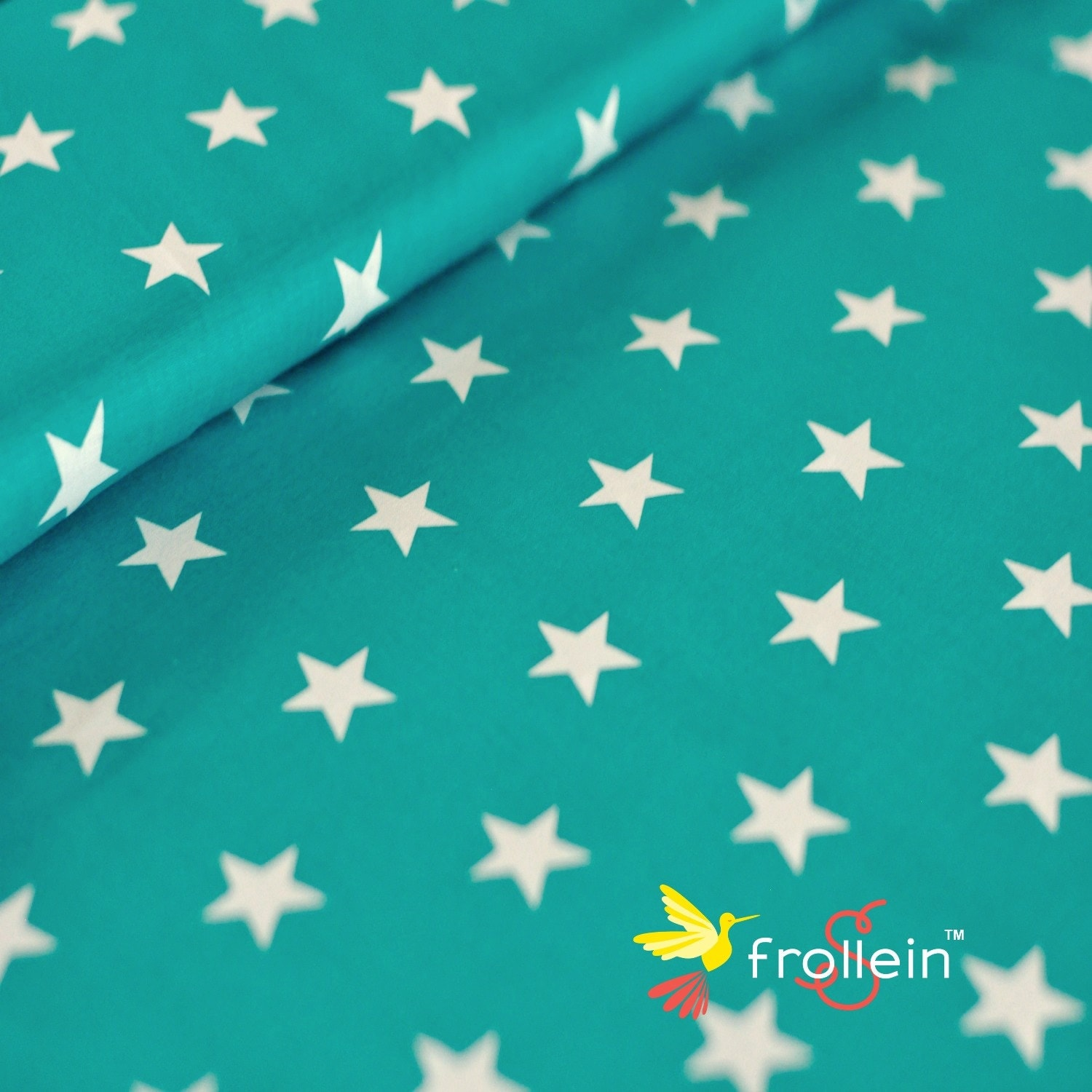 100 cotton fabric big stars beige or teal green by 1 2 for Star fabric australia