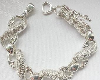 Drachenarmband , 925 Sterling Silber