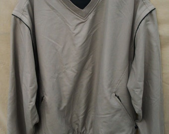 Vintage Men's Jacket Pull Over GRAND SLAM GOLF with Removable Zip Off Sleeves size Medium