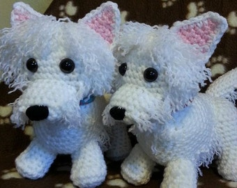 crochet Terrier Pattern UPDATED Westie Scottie Yorkie