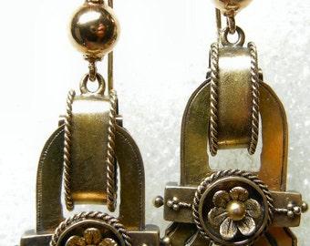 Beautiful 14k Victorian Dangle Earrings