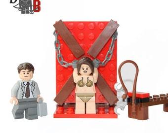 Custom Fifty Shades of Bricks Mini set with Minifigures made using LEGO parts