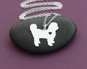 SALE - Shih Tzu Necklace - Pet Lover Jewelry - Sterling Silver - Dog Charm - Pets - Shi Tzu - Mothers Day Gift