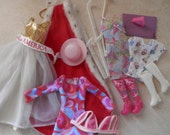 Vintage Barbie Clothes Miss America, Mod Items, and Skis