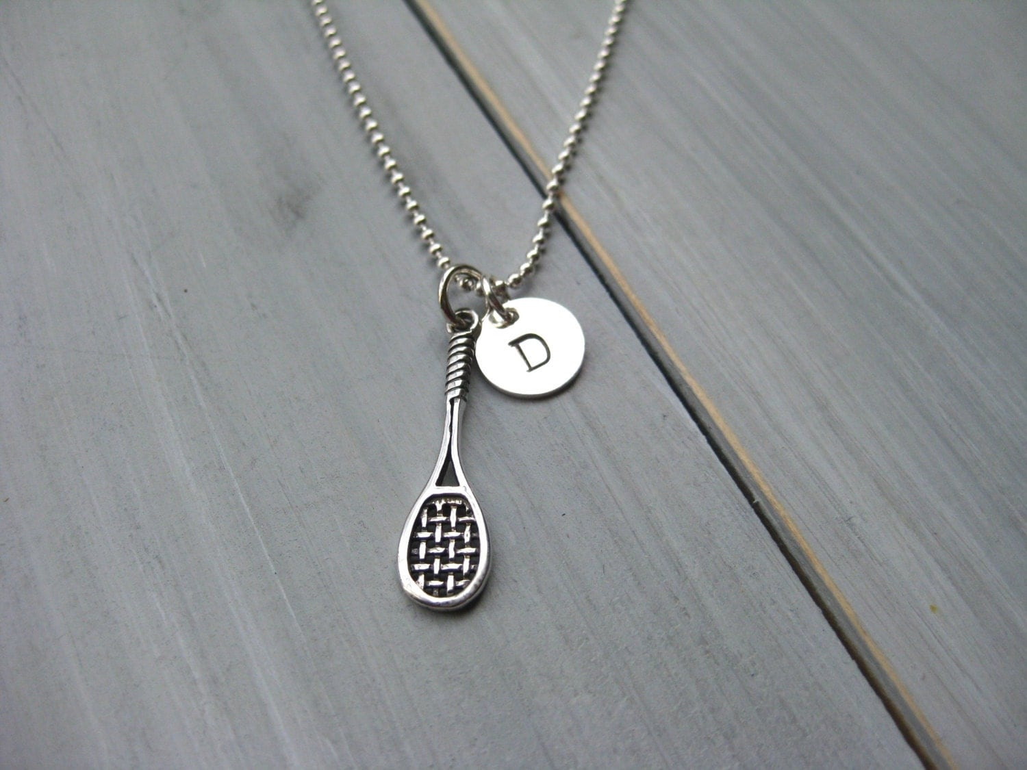 tennis necklace tennis racquet necklace personalized jewelry