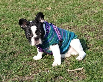 Dog Sweater - Hand Knit dog sweater - Custom made dog sweater - MADE TO ORDER