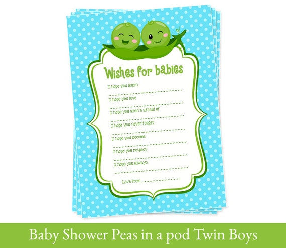 twins wishes for baby cards baby shower printable twin boys, Baby shower invitation