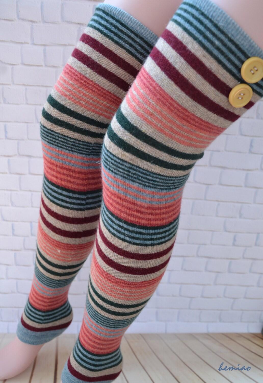 Thigh High Leg Warmers Over The Knee Socks Woman Leg