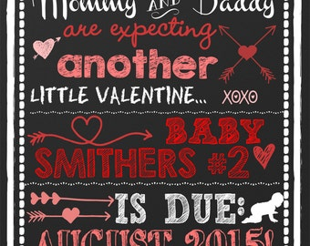 Valentines Pregnancy Announcement, Unique Valentines Day Pregnancy  Announcement, Heart Pregnancy Announcement, Valentine Pregnancy