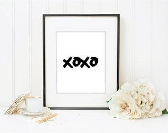 Gold Xoxo Print Etsy