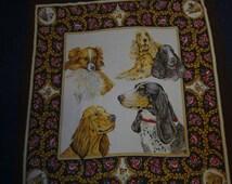 cloth, silk cloth, vintagetuch, dog-emotive, himmeldurchnadeloehr