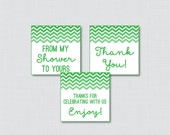 Green Chevron Printable F...
